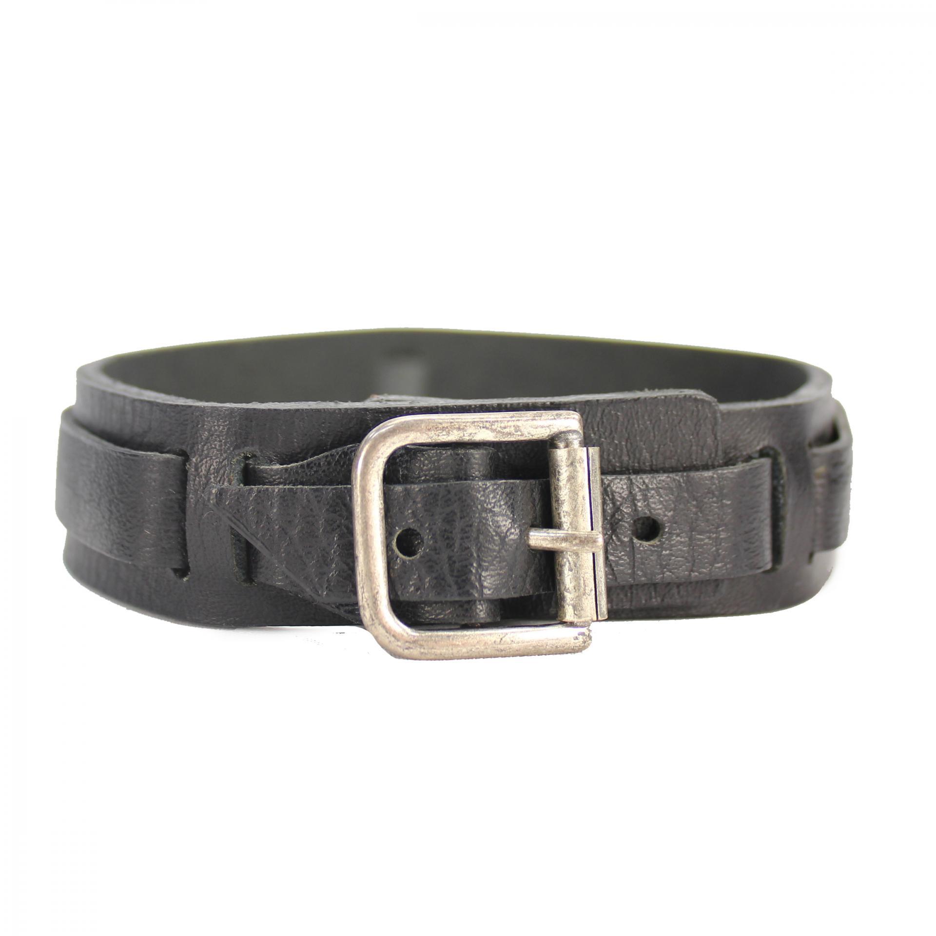 DC-bateau-Belt-Silver-Buckle-Noir-Taille-Unique-ceinture-accesoire-Bottes-Unisexe